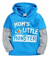 "New Boys ""Mom's Little Monster"" Long Sleeve Top Size: 18M"