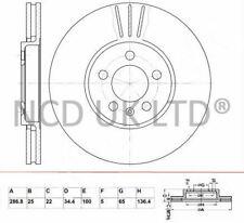 JURATEK FRONT BRAKE DISC FOR SEAT IBIZA SPORTCOUPE 1.4 TSI CUPRA 1390CCM 180HP