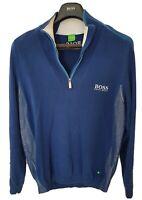 "Mens BOSS GOLF ""Green"" label 1/4 zip Jumper/Sweater size medium/large. RRP £225"