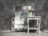 Vlies Tapete Barock Muster Ornament anthrazit grau silber glitzer effekt