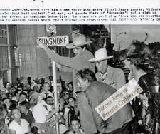 James Arness Gunsmoke Marshal Dillon 1958 Dodge City Photo Street Sign 8 x 10