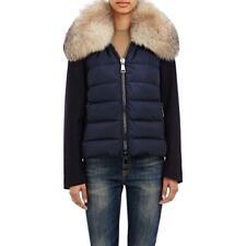 Moncler Navy Sedan Wool Nylon Down Fur Hood Puffer Jacket/Coat Sz 0/XS $3,360