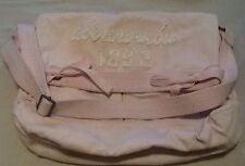 Abercrombie & Fitch Distressed Pink Canvas Shoulder/Crossbody/Messenger Bag