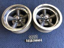 Vintage Pair Of Mark 11 5 Spoke Torque Thrust Style 14x6 4 34 Chevy Hotrod