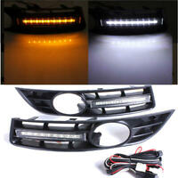DRL With Grill Surround Fog Light for VW Volkswagen Passat B6 2006-2009 LED Pair