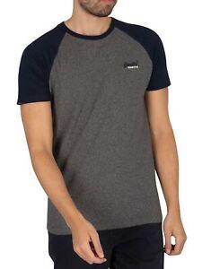 Superdry Men's Original Logo Baseball T-Shirt, Black