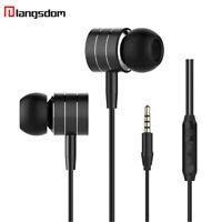 Langsdom I7A 3.5mm Headphones w/Mic Stereo Earbuds Earphone In Ear Music Sport E