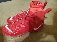 Nike Force Savage Varsity Football Cleats Mens Sz 10.5 Red/White AQ8155-600