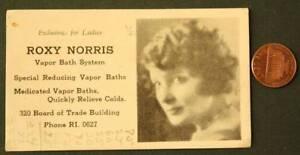 1930s Era Chicago Illinois Board of Trade Building Vapor Bath Spa business card!