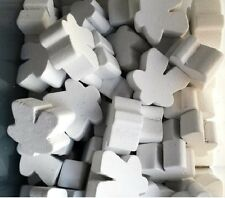 Games Accessories: Meeples - Wooden Meeples 16mm White x 10
