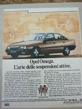 ADVERTISING PUBBLICITA' OPEL OMEGA l'arte delle sospensioni attive  -- 1987