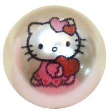 20mm Bubblegum Beads 10 HELLO KITTY  Cream Pearl  Chunky Jewelry Necklace