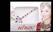 Bindi long- bijou de peau mariage danse oriental strass multicolore-  FS13Q 3094