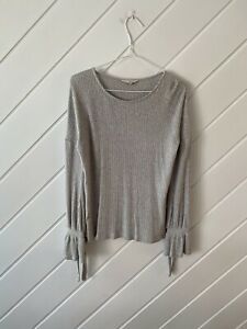Lucky Brand - Ladies Grey Ribbed Long Sleeve Top - Size S.