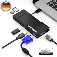 Docking Station USB 3.0 Hub Universal Dock HDMI VGA Gigabit HD Dockingstationen