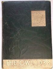 1938 GLEN ROGERS HIGH SCHOOL YEARBOOK, THE OWL, VOLUME 1, GLEN ROGERS, WV