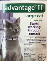 Advantage II Cat over 9 lbs Purple 1  month Supply, original product ,Free Ship