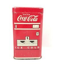 RARE VINTAGE COCA COLA COLLECTIBLE TIN LITHO BANK - COKE MACHINE