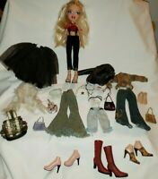 BRATZ Chloe Totally Tattooed Doll & Accessories Lot