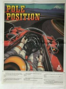 Vintage Atari Pole Position Poster 1982