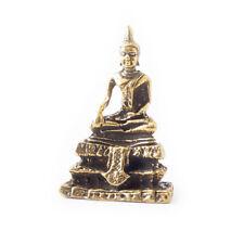 Vietguild's Antique Thai Buddha Bronze Figurine Statue Amulet