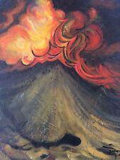 Original Painting David Alfaro Siqueiros Like Diego Rivera Matta Kahlo Botero