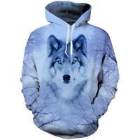 Wolf Animal Graphic 3d Printed Men Women Pullover Hoodies Sweatshirt Coat Top