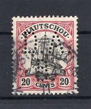 Kiautschou Firmenlochung Perfin Postmarked (A4283