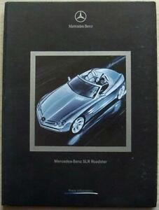 MERCEDES BENZ SLR ROADSTER USA Press Information Media Pack Sept 1999 Photos