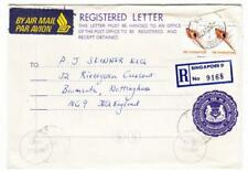 Singapore REGISTERED POSTAL ENVELOPE-UPRATED SG#297(pair)-SINGAPORE 3/NOV/