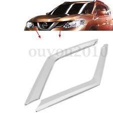 ABS Front Upper Grille Grill Cover Trim For Nissan Rogue X-Trail T32  #