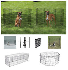 "Exercise Pens for Dogs & Pets Medium AFFORDABLE 30"" Black Wire Ex Pen Pet Yard"