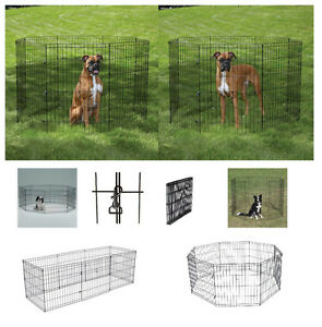 "LARGE AFFORDABLE Exercise Pens for Dogs & Pets 42"" Black Wire Ex Pen Play Yard"