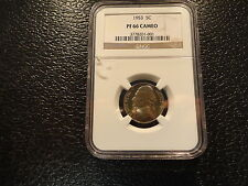1953 JEFFERSON NICKEL NGC PF PROOF 66 CAMEO- BRILLANT COIN-GREAT STRIKE-DISCOUNT