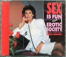 EROTIC Society feat. Erika Berger CD sesso is fun (C) 1989/come nuovo