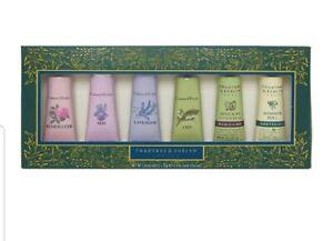 NEW Crabtree & Evelyn moisturising hand cream therapy gift set box 6 x 25g