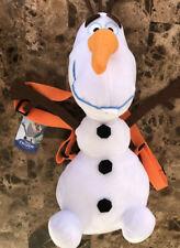 """Disney Frozen Olaf 17"""" Plush  Backpack Shoulder Straps small pocket on back NWT"""