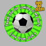 40 Personalised Football Party Stickers Bag Seals Invites foot ball footy.
