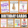 Funny Birthday Cards Rude For Him Her Mum Dad Friend Brother Sister Son Daughter