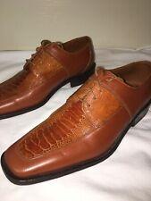 DAVID EDEN Ostrich Shoes - BROWN Sz 11  Excellent!