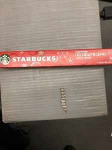 Starbucks Nespresso Holiday Blend Limited Edition Single Sleeve of 10 Pods