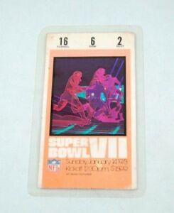 1973 super bowl Vll ticket stub miami dolphins 17-0 perfect season redskins