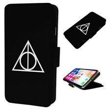 Always Deathly Hallows Blk - Flip Phone Case Wallet Cover Fits Iphone & Samsung