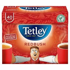 Tetley Redbush Tea Bags 6 Boxes of 40 Supplied (240)    Free UK Delivery