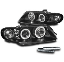 2004 2005 2006 PONTIAC GTO BLACK DUAL HALO PROJECTOR LED HEAD LIGHT W/DRL SIGNAL