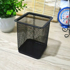 Black Square Mesh Desk Pen Pencil Organiser Cup Holder Office School Supplier EW