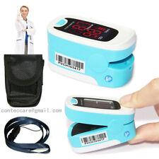 Finger Fingertip oxygène de glycémie SPO2 LED Pulse Heart rate Monitor,bleu,CE