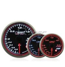 Prosport 52mm Turbo Boost Gauge BAR Smoked Stepper WRC Style