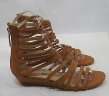 Summer Tan Ankle Strap Womens Shoes Open Toe Sexy Sandals Size 7.5
