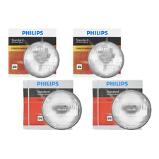 4 PCS Philips Headlight Bulb For 1966-1967 Buick Gran Sport High Beam + Low Beam
